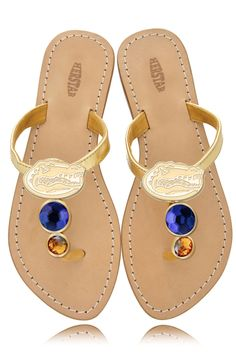 Florida Gators Ladies Jewel Embellished Flat Sandals – HERSTAR  GREAT FOR SUMMER!