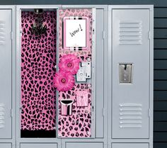 Might be a little over the top, but these locker accessories are so fun! #pink #leopard #kids #decor #pinparty