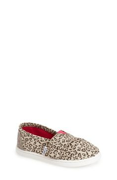 TOMS 'Classic - Metallic Leopard' Slip-On (Baby, Walker & Toddler) available at #Nordstrom