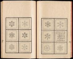 """heaveninawildflower: """" 'Snow crystals from the great snow 1832/12/9′ Sekka zusetsu = An illustrated treatise on snow crystals. Preface by Doi Toshitsura Images and text courtesy NYPL Digital Collection. """""""