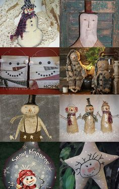 Some Prim Snowmen of OFG by RENEE TOUSIGNANT on Etsy--Pinned with TreasuryPin.com