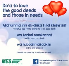 Love the good deeds & those in needs