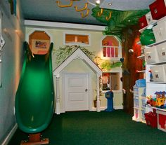 Design Dazzle: It's A Playroom With A Tree/Climbing Wall!
