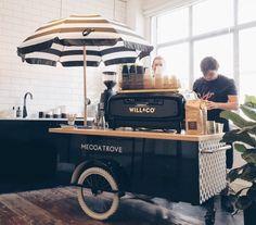Coffee food truck, coffee shop design и coffee stands. Small Coffee Shop, Coffee Shop Design, Cafe Design, Mobile Coffee Cart, Mobile Coffee Shop, Coffee Food Truck, Food Cart Design, Coffee Trailer, Bike Food