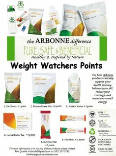 Counting those Weight Watchers points? Arbonne's Essentials Nutrition Line fits right into your daily routine!