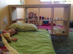 montessori shelves/floor bed