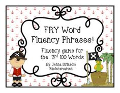 Fun way to practice your fluency skills with FRY words/sight words/high… Fry Words, Fry Sight Words, First Grade, Second Grade, Fluency Games, Word Building, High Frequency Words, Learning Games, Teacher Pay Teachers