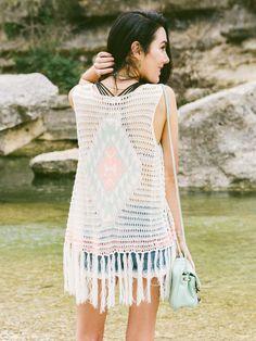 Altar'd State Aztec Fringe Vest