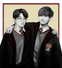 BTS Harry Potter AU Jimin & V