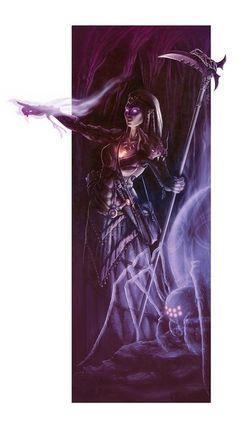 [Art] My female Drow Shamaness and spirit companion 4e : DnD