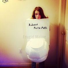 My Daughter's Two Best Halloween Costumes - This year she's going to be a Redneck Porta-Potti courtesy of my dad. #Halloween #HalloweenCostumes #HomemadeHalloweenCostumes #Costumes #DIY #DIYHalloween