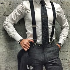 men suits blue -- Click visit link for more info Suit With Suspenders, Suspenders Outfit, Suit And Tie, Modern Gentleman, Gentleman Style, Modern Man, Mode Masculine, Suit Fashion, Mens Fashion