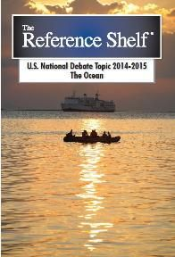 """""""The reference shelf : U.S. national debate topic, 2014-2015. The ocean"""" / compiled by H.W. Wilson Company (image via libguides.mcckc.edu)"""