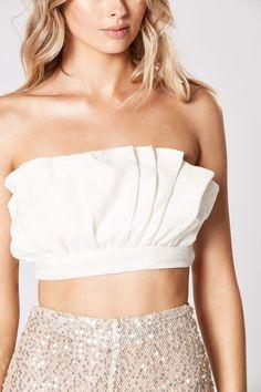 AMITY FRILL TOP – W I N O N A Frill Tops, Tie Backs, Natural Linen, No Frills, Crop Tops, Elegant, Model, How To Wear, Beautiful