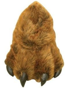 76ab530e09a Grizzly Bear Paw Furry Slippers Keep Feet Warm in Winter -Adult sz Large