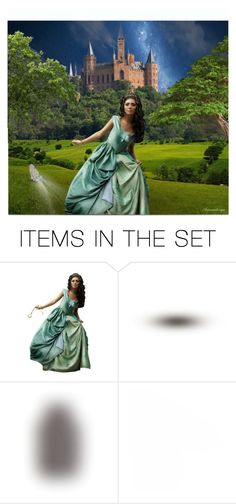 """CINDERELLA"" by arjanadesign ❤ liked on Polyvore featuring art, fantasy, artset and artexpression"