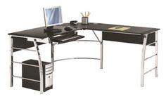 Altra Wingate Glass Top  L Desk, Black (9105396COM) | Staples