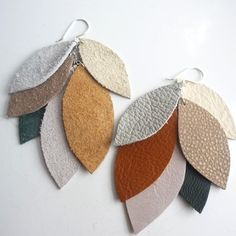 Great earrings made from repurposed leather scraps.