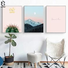 Scandinavian, Nordic wall art, posters, canvas art prints, home decor items and design accessories. Canvas Poster, Canvas Art Prints, Canvas Wall Art, Canvas Frame, Nordic Art, Decorating With Pictures, Pink Sky, Landscape Paintings, Landscape Posters