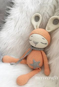 Awesome and beautiful crochet pattern AMIGURUMI Images and ideas Part Crochet Animal Patterns, Crochet Doll Pattern, Stuffed Animal Patterns, Crochet Patterns Amigurumi, Amigurumi Doll, Crochet Animals, Crochet Dolls, Crochet Rabbit, Cute Crochet