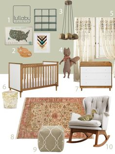 The final nursery board! My Modern Nursery 85: Spring Time Sponsored by Lullaby Paints Let us know what you think!