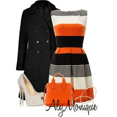 A fashion look from January 2013 featuring AX Paris dresses, MARC BY MARC JACOBS coats and Giuseppe Zanotti pumps. Browse and shop related looks.