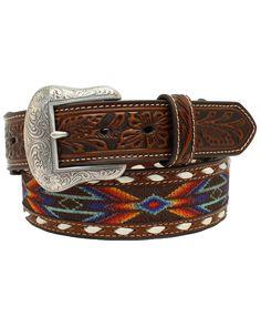 Nocona Belt, Aztec Designs, Western Belts, Lace Ribbon, Suspenders, Leather Working, Westerns, Beaded Belts, Boots