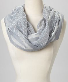 Take a look at this Gray Zigzag Infinity Scarf by Aida Scarves on #zulily today!