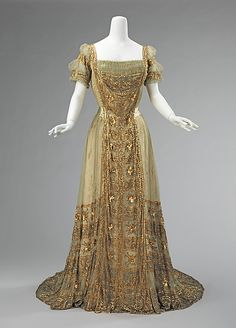c. 1910 American ball gown owned by Astor family member, silk. The Met.