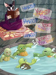 Hamato YOSHI!! (like Marco Polo)<<<< AWWWWWW.