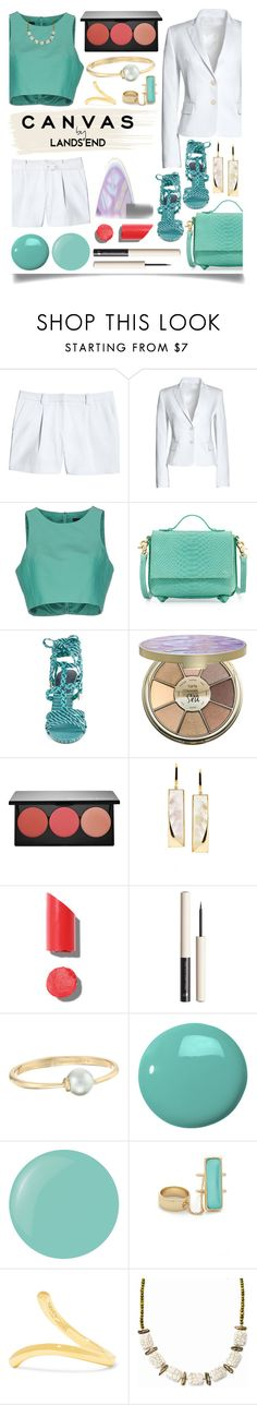 """Paint Your Look With Canvas by Lands' End: Contest Entry"" by ittie-kittie on Polyvore featuring Canvas by Lands' End, TIBI, Foley + Corinna, Lands' End, Jimmy Choo, tarte, Smashbox, Lana, Chanel and Rebecca Minkoff"