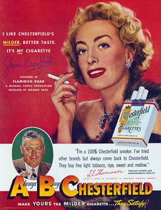 A Gallery of Star-Powered Cigarette Ads | grayflannelsuit.net