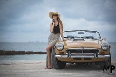 i am with my own MGB by the sea yea tak
