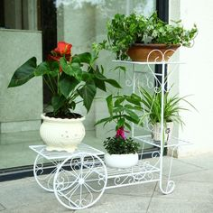 Barato Alta qualidade tamanho grande europeu varanda fower vasos de jardim prateleira titular pergolados metal ferro prateleira, Compro Qualidade Pote para flores diretamente de fornecedores da China:  58*21*63cm european balcony fower pots shelf garden flower stands holder flower pergolas metal iron flower shelfUSD 88.