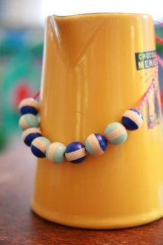 DIY Mod Wooden Bead Necklace