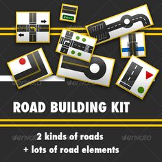 Road Building Kit - Scenes Illustrations Download here: https://graphicriver.net/item/road-building-kit/31416?ref=alena994