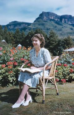 The Queen (as Princess Elizabeth) in the Royal Natal National Park, South Africa 1947