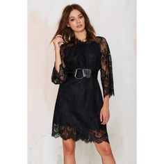 Midnight Hour Lace Dress (1,325 PHP) ❤ liked on Polyvore featuring dresses, black, raglan dress, lace cocktail dress, oversized dresses, lacy dress and lace trim dress