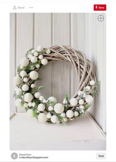 Bekijk hier 12 kerstkransen voor aan de m… Are you going to make a Christmas wreath this week? View 12 Christmas wreaths for on the wall or at the door! – Self-made ideas Christmas Wreaths To Make, Noel Christmas, How To Make Wreaths, Christmas 2017, Winter Christmas, Christmas Crafts, Holiday Wreaths, Christmas Wreath Clipart, Outdoor Christmas Wreaths