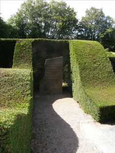 Veddw House Garden, Monmouthshire, UK. Anne Wareham and Charles Hawes  - as they say it's a garden of shapes.