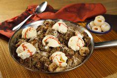 Crumble de Lichia: receita do chef Eduardo Maya http://sandelehalimentos.com.br/blog/receita-crumble-de-lichia/