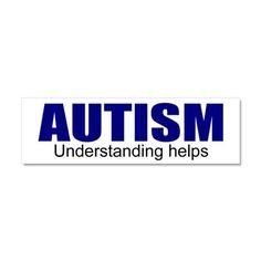 Autism, understanding helps Car Magnet 10 x 3 on CafePress.com