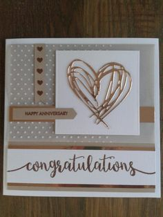 Gold heart Congratulations Card