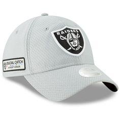 Women s Oakland Raiders New Era Gray Crucial Catch 9TWENTY Adjustable Hat 715bad427068