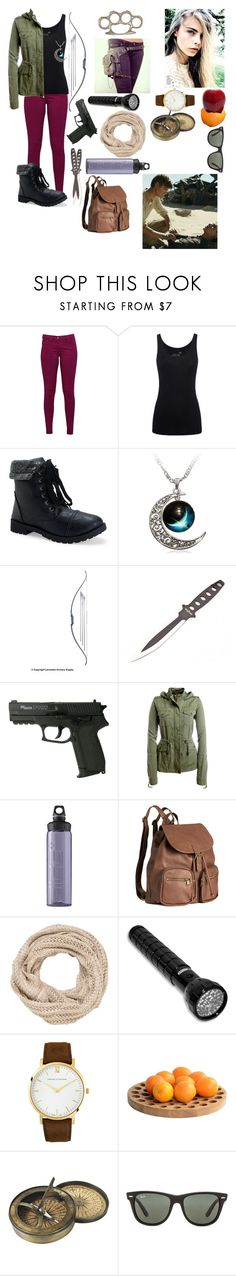 """""""If I was in the scorch trials-comment if you saw the movie !!!"""" by gglloyd ❤ liked on Polyvore featuring Great Plains, Juvia, Aéropostale, SIGG, H&M, maurices, Larsson & Jennings, .wireworks, Authentic Models and Ray-Ban"""