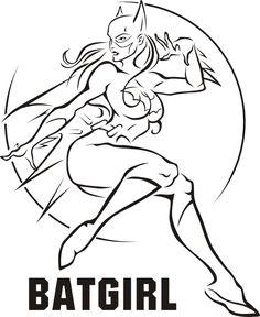 wonder women bat girl superhero coloring page printable