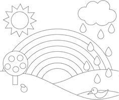 Menta Más Chocolate - RECURSOS y ACTIVIDADES PARA EDUCACIÓN INFANTIL: Dibujos para colorear e Imagenes de ARCO IRIS