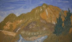 @Saatchiart #Saatchiart #Fresco #art #Mural #expressionism #modernism #textured #paintings #creative #painting #artists #color #Cherepanova #Contemporaryfresco #Aleksandra #nature #tree #trees #landscape #landscapes #mountains #water #River #Altai