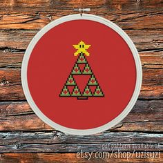 Nintendo Zelda Triforce Star Christmas Tree Cross by uzisuzi