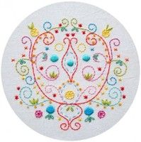 Pompeii Arabesque Embroidery Pattern